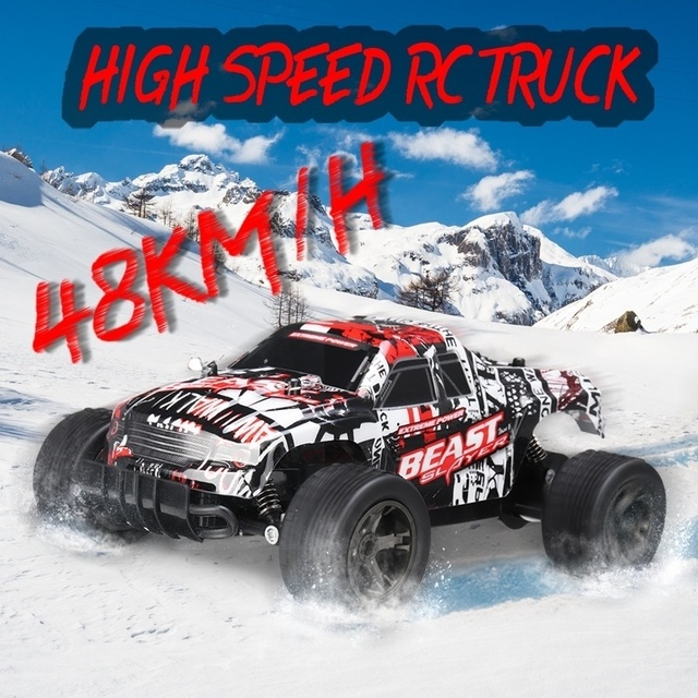 48KM/H High Speed RC Car 1:20 Electric Monster Car Off Road Vehicle Remote Control Toys for Kids