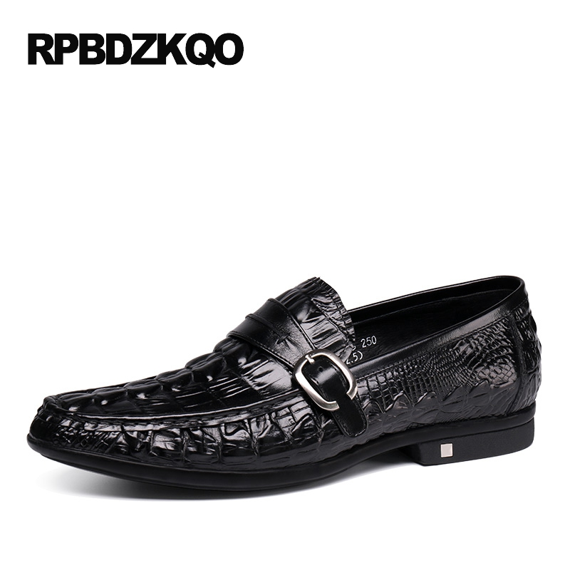 Loafers Genuine Leather Slip On Spring Driving Black Alligator Men Casual Brown Shoes Tan Real Deluxe Hot Sale Autumn Stylish branded men s penny loafes casual men s full grain leather emboss crocodile boat shoes slip on breathable moccasin driving shoes