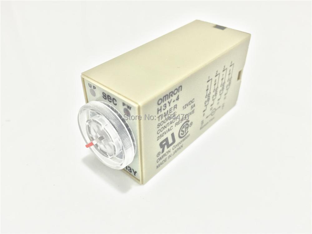 10 шт./лот H3Y-4 DC 12 В 5S мощность на временной задержки таймера реле времени 12VDC 5sec 0 - 5 второй 4PDT 14 контакт.