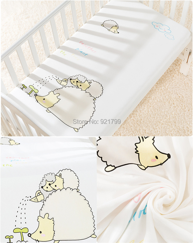 1pcs Baby bed mattress cover 100% cotton baby bed sheet for baby girl boys 120x65cm crib
