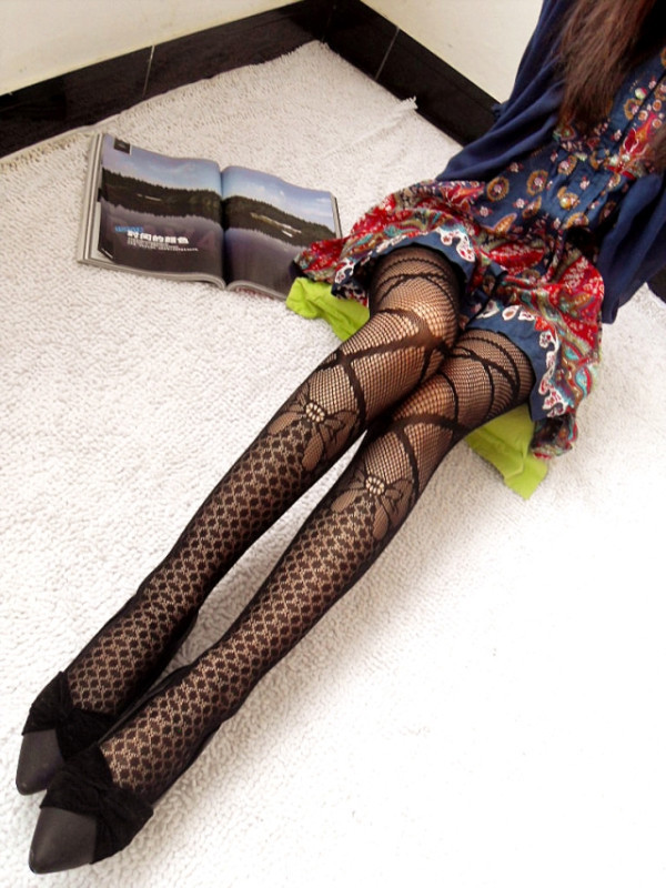 26 Styles Women Sexy Fishnet Pattern Jacquard  Leg Warmers Stockings Pantyhose Tights  Fancy Night Club 1pcs Dww04