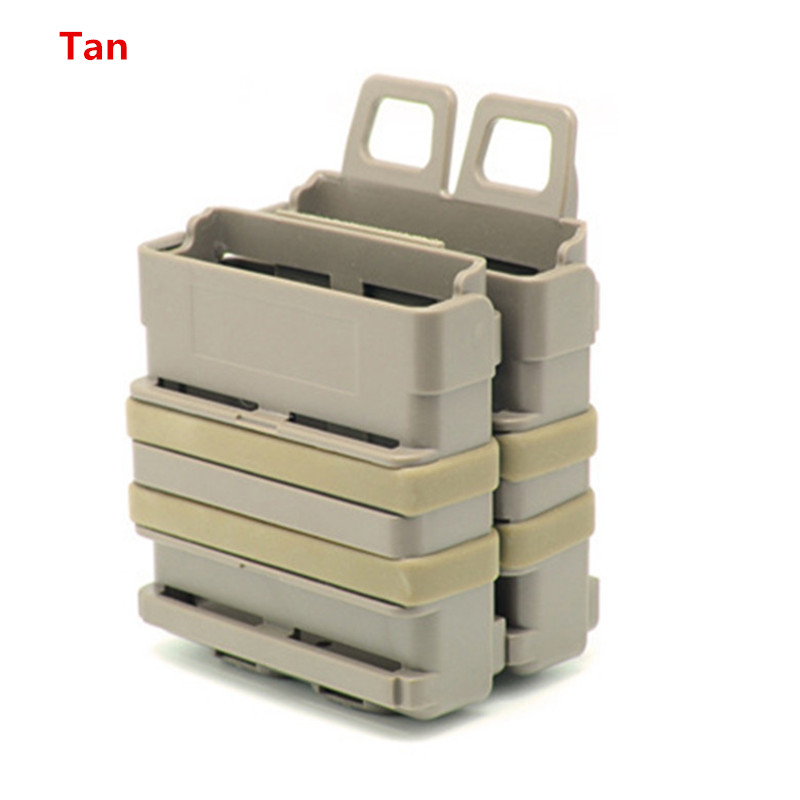 High Quality Coyote Airsoft Rifle 5.56 Mag M4 Magazine Fast Attach Tactical Pouch Molle System Tan Black Army Green color