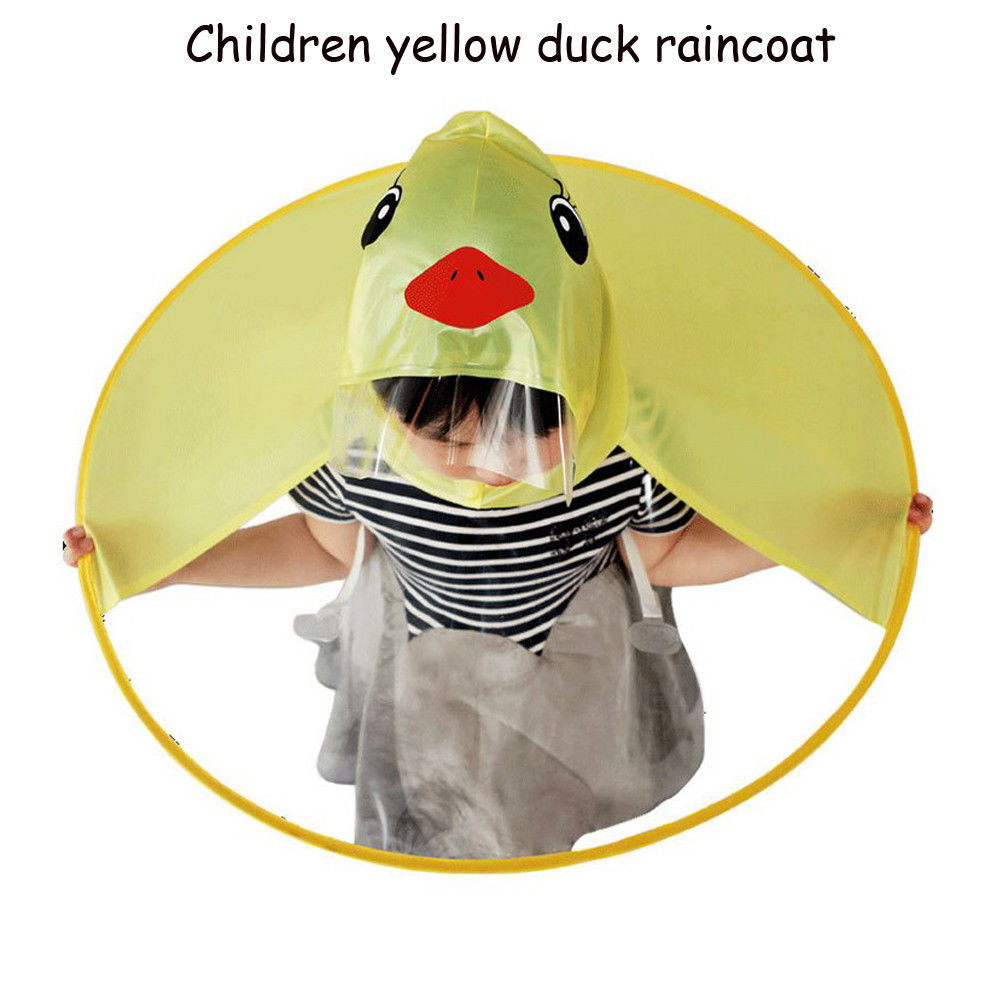 Yellow Duck Children Raincoat Kids UFO Raincoat Umbrella Cartoon ... a9d500ac8afc
