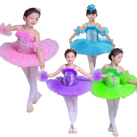 Color Children's Ballet Tutu dance Dress costumes Swan Lake Ballet Costumes Kids Girls Stage wear Ballroom dancing Dress Outfits