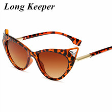 Hot Women Fashion Cateye Sunglasses Womens Glasses Clear Oval Frame Vintage Cat Eye Lady Shades UV400 Goggles