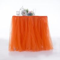 tutu table skirt & tulle table skirt & table skirt for wedding table decoration 2 pieces Free Shipping
