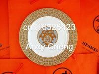 2017 Fine Bone China Dinner Plates Big Flat Platter Service Steak Plate Porcelain Tableware Salad Cake