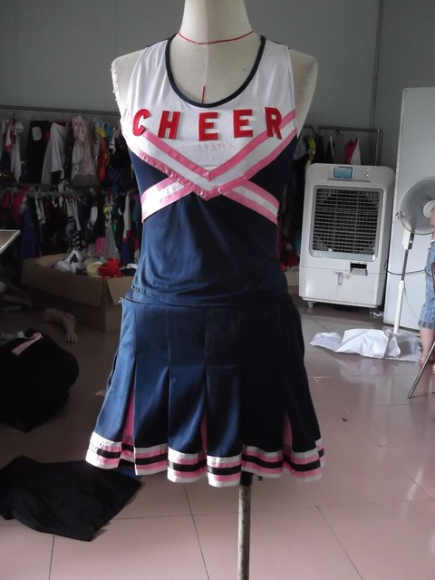 Free Shipping Zy 494 Ladies Cheerleader Costume School Girl Full Outfits Fancy Dress Uniform