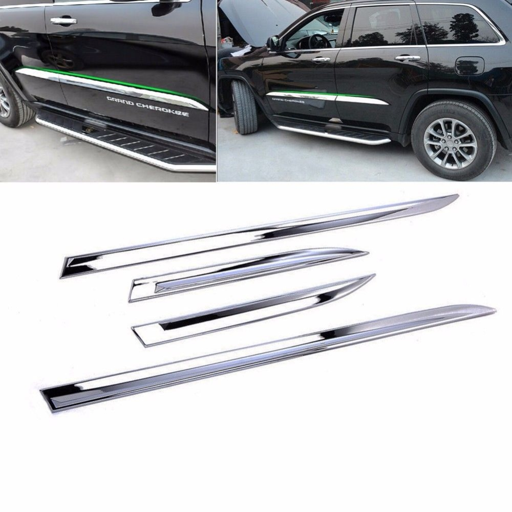 Chrome Car Side Body Door Moulding Cover Trim For Jeep Grand Cherokee 2014 2018|Chromium Styling| |  - title=