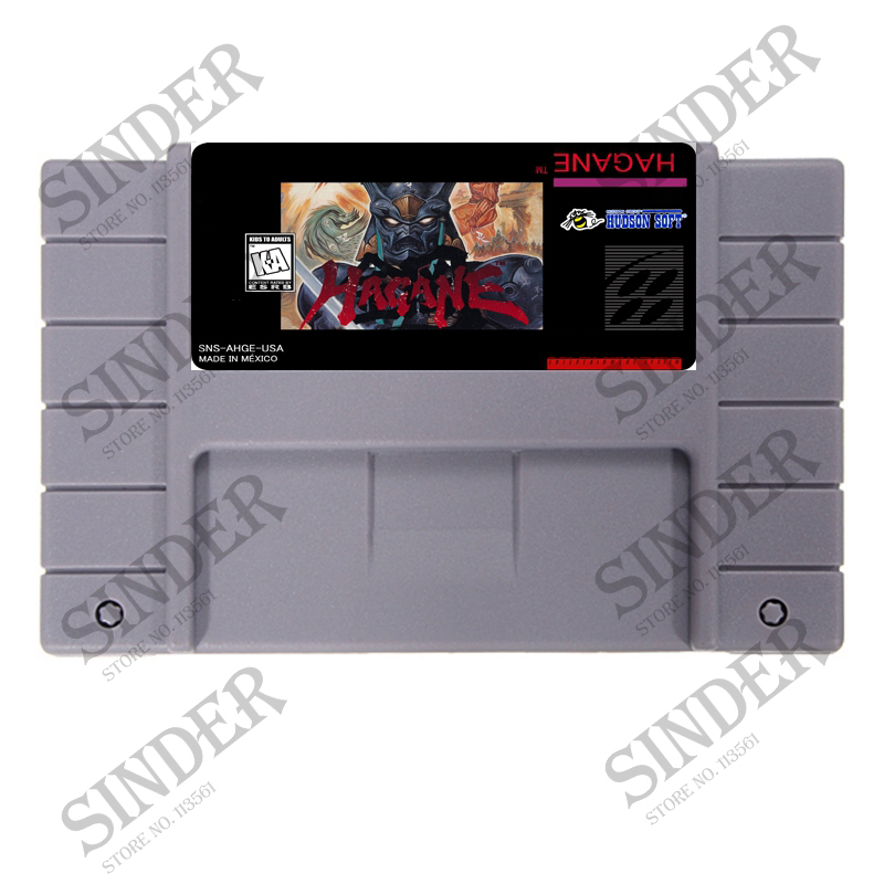 Hagane The Final Conflict 16 bit Super Game Card
