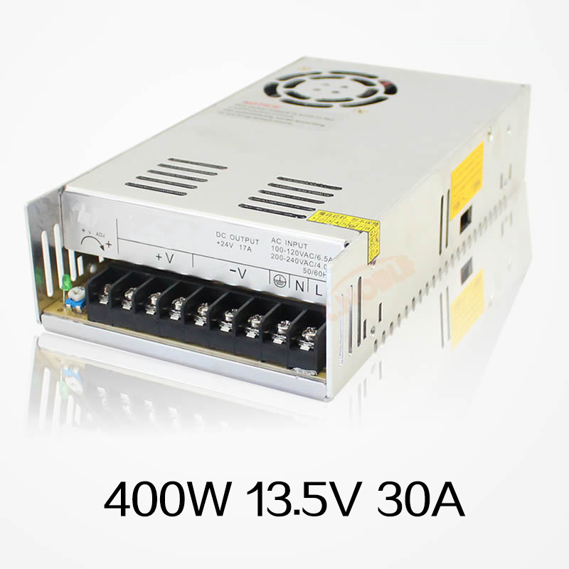 2016 New 400W 13.5V 30A Single Output Switching Power Supply For CCTV Camera LED Strip Light AC to DC SMPS 400w 36v 11a single output switching power supply for cctv camera led strip light ac to dc smps