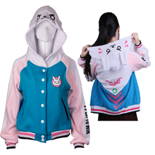 D va OW Hoodies Cosplay DVA costume Jacket Sweatshirts Autumn Cotton Clothes Winter For font b