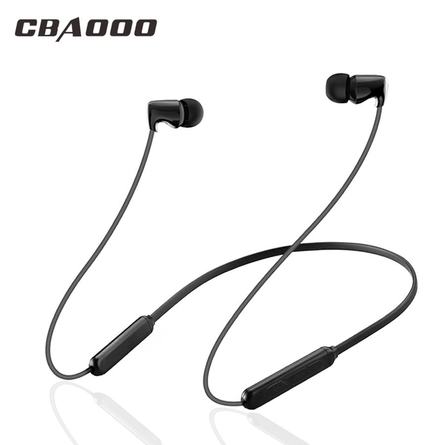 цена на CBAOOO Bluetooth earphone Wireless Bluetooth Headphones Ceramic headset sport Sweatproof earphones Bass Stereo earpiece with Mic