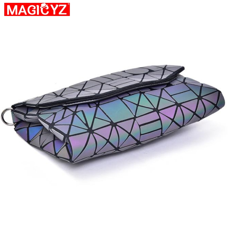Image 4 - MAGICYZ Crossbody Bag For Women 2018 Fashion Laser Geometric Luminous Women Handbags Purse Clutch Designer Brand Shoulder Bags-in Top-Handle Bags from Luggage & Bags