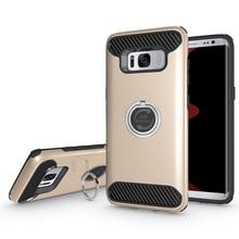 S8 чехол TPU + PC Броня Крышка для Samsung Galaxy S8 случае аксессуары кольцо Kickstand противоударный чехол для Samsung S8 плюс Чехол