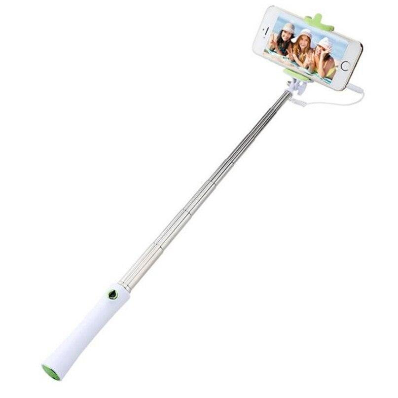 Malloom 2017 Mini Extendable Handheld Selfie stick Tripod Monopod Camera Selfi stik for IOS Android Mobile phone Green