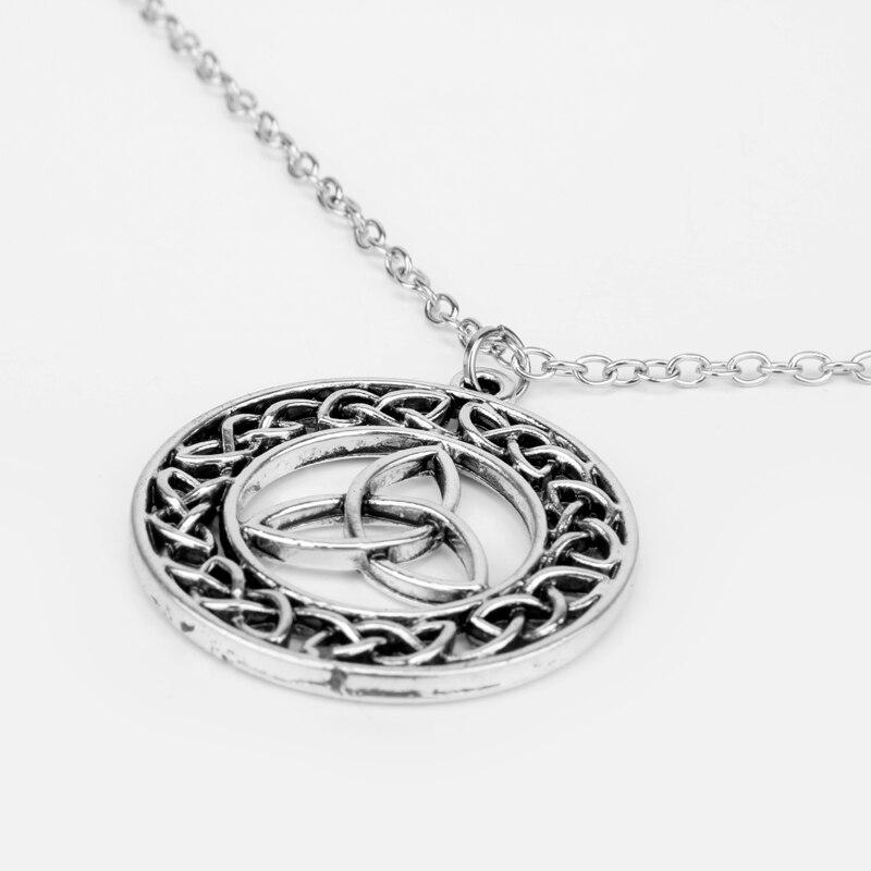 HEYu Outlander Vintage keltski čvor križ Triskele Trinity škotski - Modni nakit - Foto 5