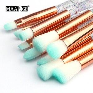 Image 3 - Maange 4/10 個新ダイヤモンド化粧ブラシセット女性財団パウダーブラッシュリップ化粧品のためのカラフルなを構成するツール