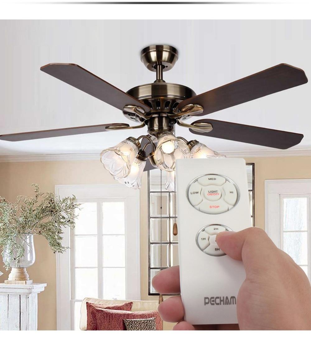 pecham потолочный вентилятор лампа пульт дистанционного