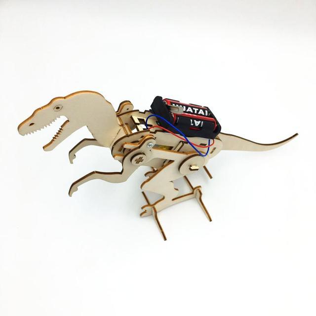 Happyxuan-Science-Kit-Kids-Innovative-Electric-Construction-Set-DIY-T-Rex-Model-Interesting-Boys-Craft-Toy