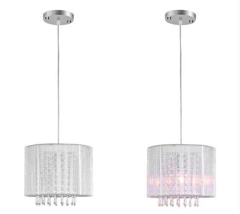 Современный черный серебристый матовый светодиодный светильник, светодиодный хрустальный светильник для гостиной, светодиодный подвесной светильник