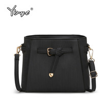 YBYT brand 2018 new casual vintage solid women flap PU leather simple font b ladies b