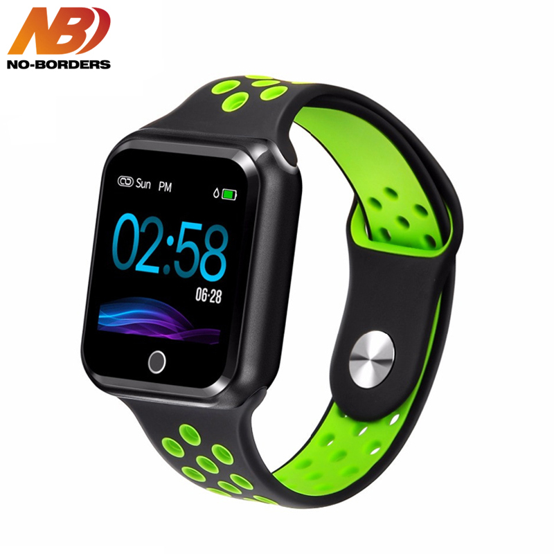 NO-BORDERS Smart Watch Women Men Sport Modes Bluetooth Waterproof Heart Rate Monitor Blood Pressure For iPhone Apple IOS AndroidNO-BORDERS Smart Watch Women Men Sport Modes Bluetooth Waterproof Heart Rate Monitor Blood Pressure For iPhone Apple IOS Android