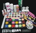 2018 Pro Full Acrylic Glitter Powder Glue French Nail Art Brush Kit Set