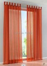 Venta caliente de Alta Calidad simple western Gasa color Sólido pura cortinas de la ventana Envío libre (un par)