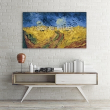 Wheatfield with Crows Landscape Painting Print on Canvas Van Gogh Artwork Home Decorative Picture Office Wall Decor