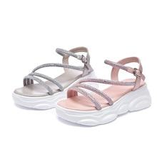 Zhenwei Sandal Slope INS Bear Thick Bottom Girl Shoes Chunky Heels Sandalias De Verano Para Mujer Sandals Women Soulier Femme