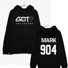 c341c3bd6 2017 NewHopGOT7 Women Hoodies Clothing Pullovers Fashion Baseball Jersey  Mark Long Sleeve Women Men s Sweatshirt