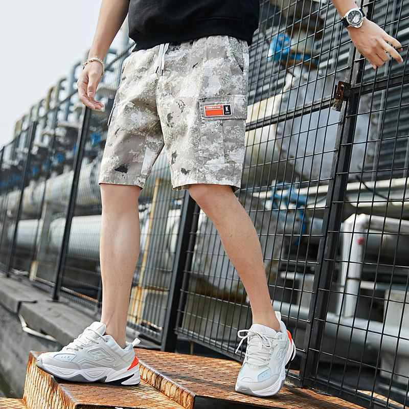 Hot Sale Zomer Heren Shorts Camouflage Losse Cargo Shorts Homme Casual Cargo Shorts Joggingbroek Mens Bodybuilding Fitness Zweet