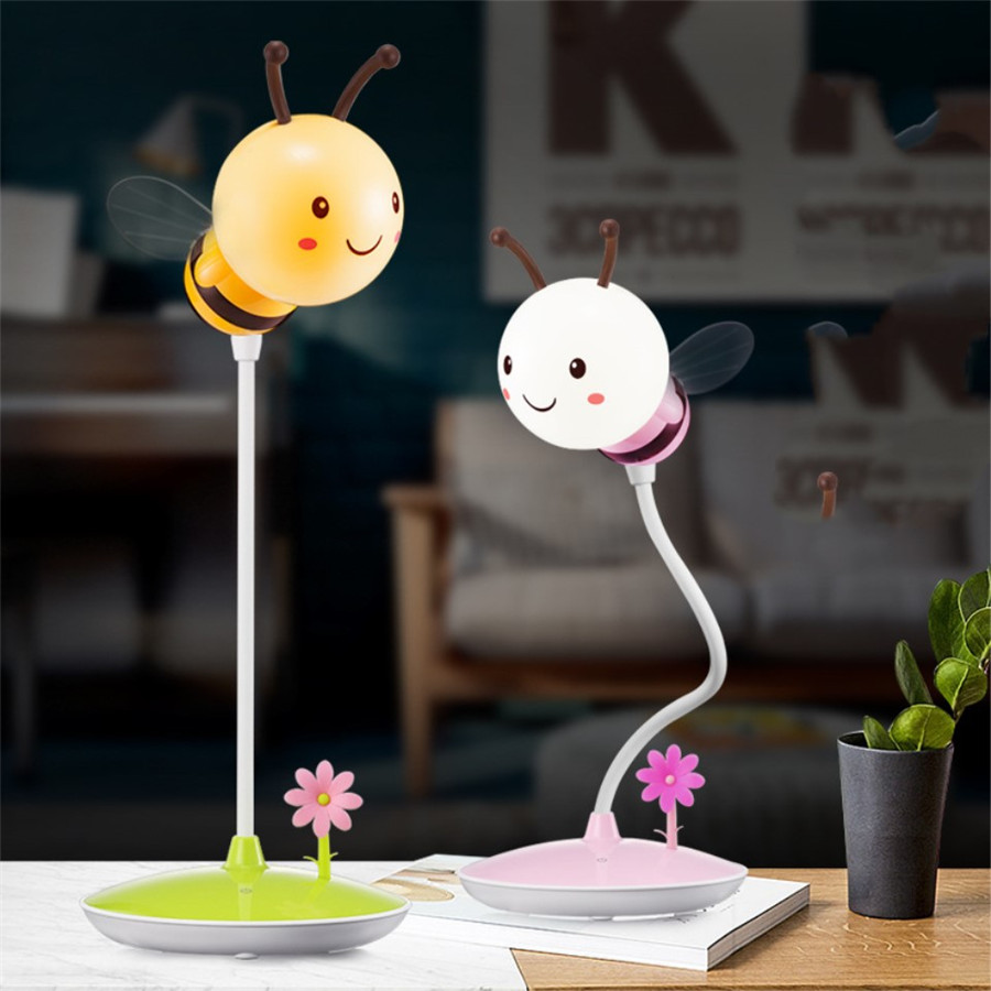 Novelty-Animal-Bee-Kids-Nightlight-LED-Touch-Sensor-USB-Rechargeable-Table-Lamp-3-Levels-Dimming-Beside