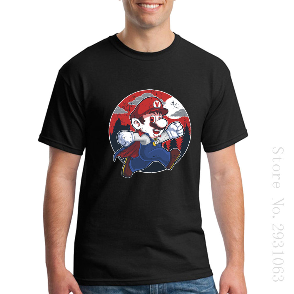 Shirt design rates - Low Price O Neck Mens T Shirts T Shirt Simple Style Man Super Mario Plumber