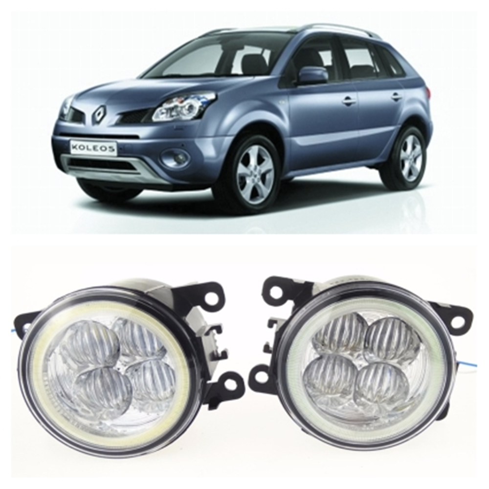 For RENAULT Koleos HY Closed Off-Road Vehicle  2008-2015 10W high brightness LED Angel eyes fog lights Car styling fog lamps for renault koleos hy