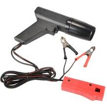 Dropshipping preto profissional carro indutivo sincronismo luz testador de ignição do motor arma cilindro xenon lâmpada detector