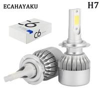 2 Pcs All In One H7 Bulb 72W 7800Lm Headlights H1 H3 H8 H11 HB3 9005