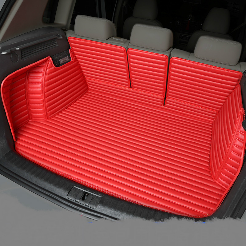 Full Covered Waterproof Boot Carpets Durable Custom Special Car Trunk Mats for Ford Focus Mondeo Kuga Edge Ecosport Fiesta S-MAX trunk mat for ford mondeo 2008 2014 durable waterproof luggage mats tray for dogs
