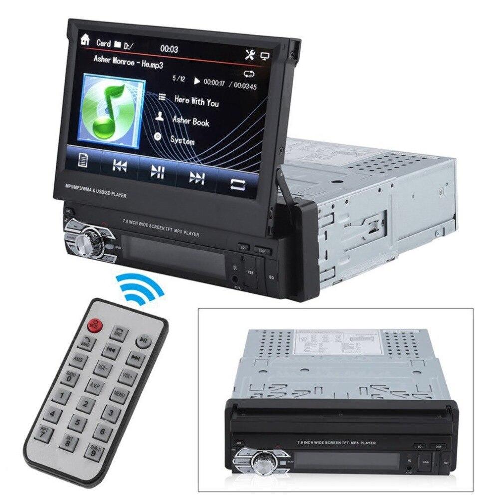 Челнока 7 дюймов автомобиля MP5 плеер Bluetooth стерео цифровой автомобильный Радио USB2.0 Портативный мультимедиа Съемная музыкальный плеер униве...
