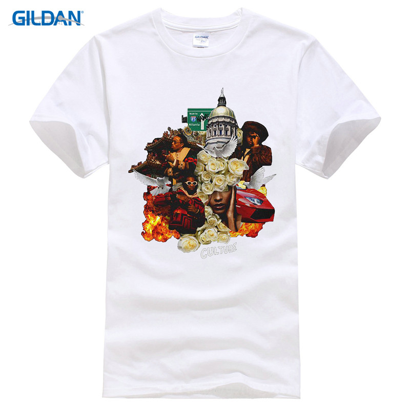 Printed T Shirt Clothes O Neck Men Short Sleeve Tall M Pattern Migos Culture Gift T Shirt in T Shirts from Men 39 s Clothing