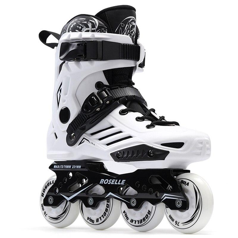 Prix pour Nouveau Femmes Filles Inline Skate Chaussures Professionnel Freestyle Patinage Bottes En Plein Air Patins à roulettes Patins Blanc/Noir