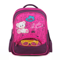 Delune Kids Backpack Schoolbags For Boys Girls New Design Cute Cartoon Bear Schoolbags High Quality Silk