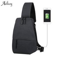 Aelicy 3 اللون الرجال أكياس عارضة قماش رسول حقيبة الصدر قدرة عالية للجنسين الرجال سفر صغيرة حقيبة الكتف 1010