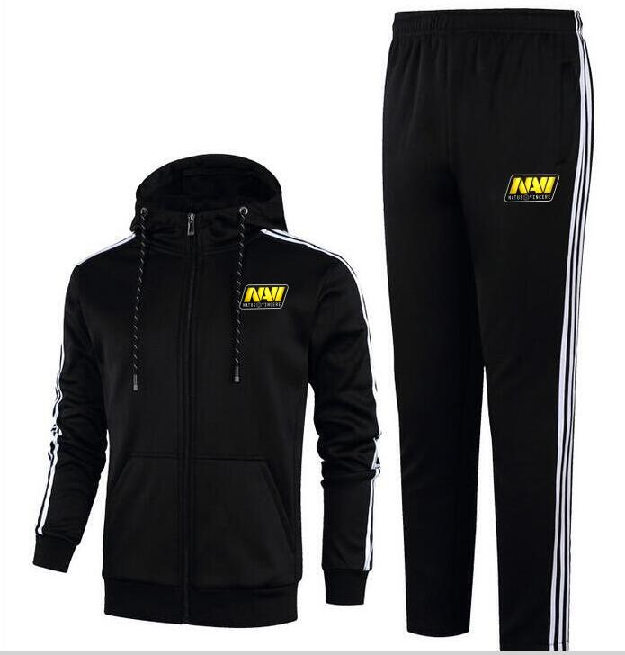 Fashion turret DOTA2 team navi clothing suit running fitness sportswear hoodie two-piece autumn and winter models thick