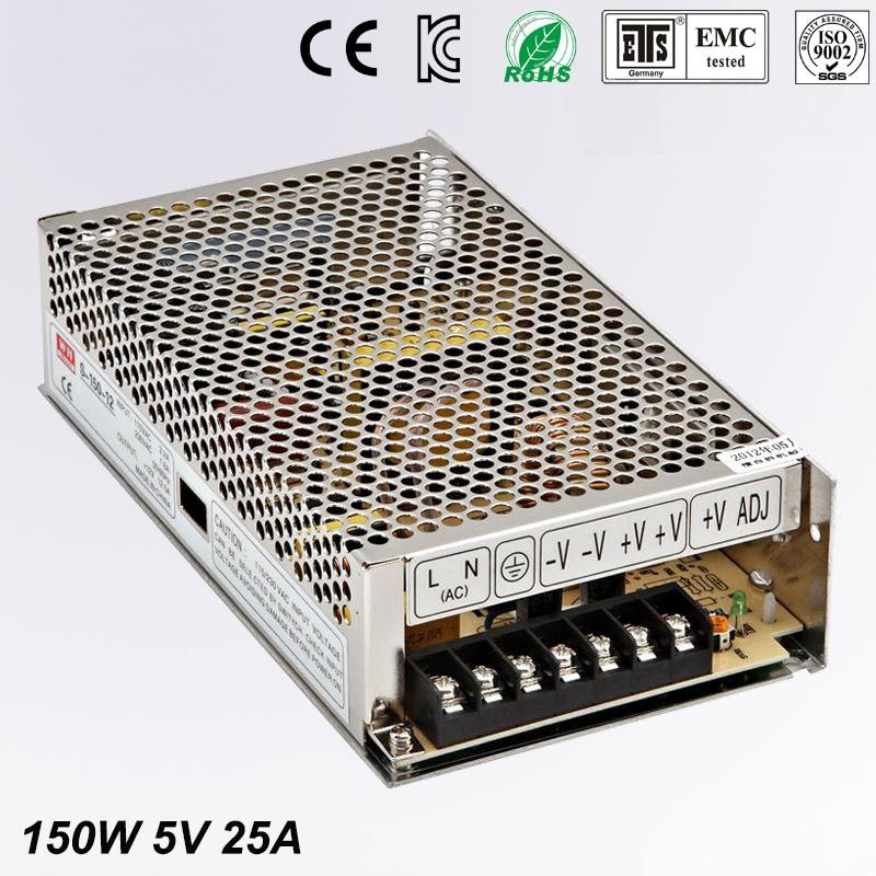 Universal Switch power suply 5V DC 25A 150W Led Driver Unit Led Transformer 220v 110v AC To DC Fonte 5V For CNC CCTV цена