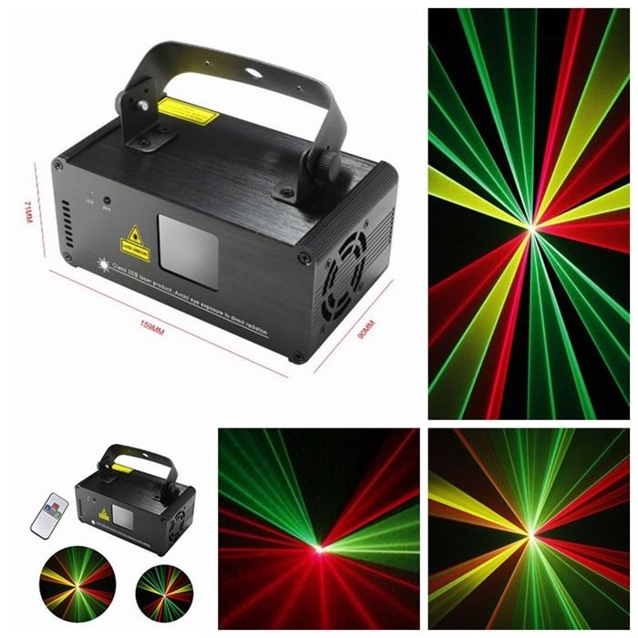High quality DM RGY200 IR Remote 8 CH DMX 512 Mini Laser Stage Effect Lighting Scanner