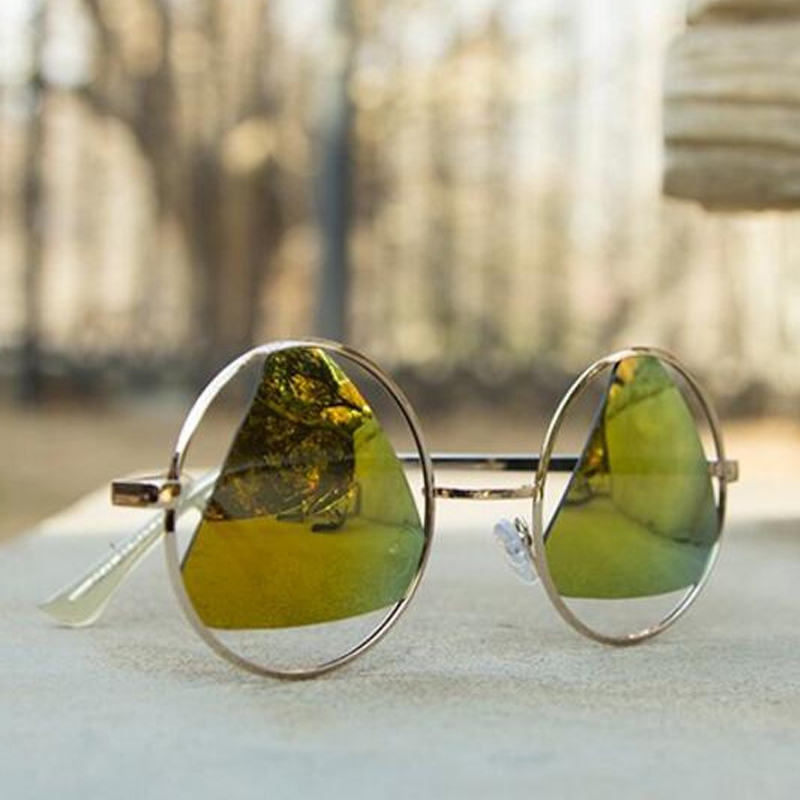 df3f247e6 Óculos de Sol Rodada do Vintage dos Homens 2017 Nova Lente Agz01-agz08