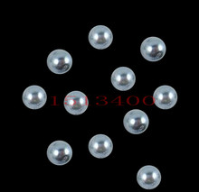 new fashion Wholesale 4mm Dia. 1150pcs/lot Round Pearl Imitation Plastic Pearl Beads Gray for You to DIY jewelry(China)