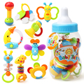Newborn Baby Teaching Aids Bottle With A Number Of Sets Of Dental Gel Rattling Gift Set 0-3 Years Old Safety Five Poison